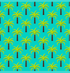 tropic palm trees seamless pattern vector image