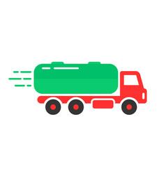 colored tank car icon vector image