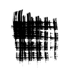 dry brush stokes horisontal and vertical vector image vector image