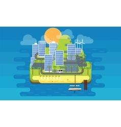 Eco island vector image