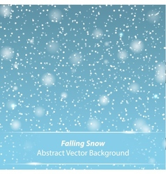 Falling snow background vector