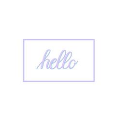 hand-written calligraphy hello word vector image vector image