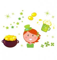 leprechaun icons vector image vector image