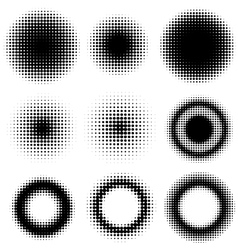 Set of Abstract Halftone vector image vector image