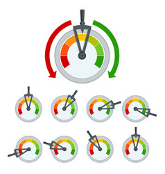 success conceptual meter hundred percent set of vector image