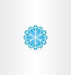 abstract blue star snowflake symbol vector image