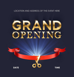 grand opening ceremonial background with vector image