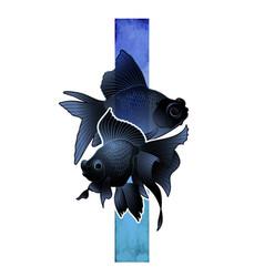 graphic telescope fish vector image vector image