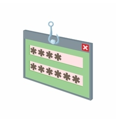 Internet phishing hacking login and password icon vector image