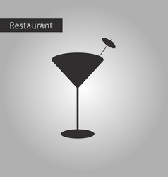 black and white style icon martini glass vector image
