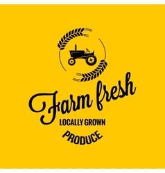 farm fresh design background vector image