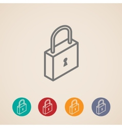isometric lock icons vector image