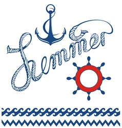 Maritime symbols vector image vector image