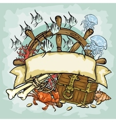 Pirate logo design with vector image vector image