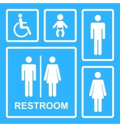 restroom icons vector image vector image