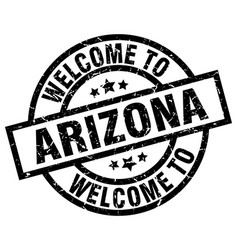 welcome to arizona black stamp vector image vector image