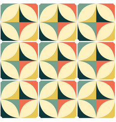 60s and 70s retro seamless pattern vector