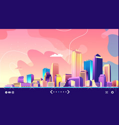 Abstract city banner vector