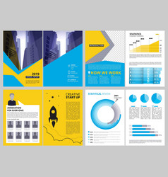 Annual report pages modern brochure layout with vector