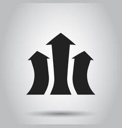 Arrow growing graph icon progress arrow grow sign vector
