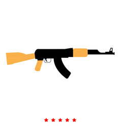 assault rifle icon flat style vector image