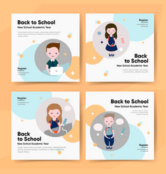 back to school bundle template vector image