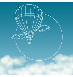 balloon on background cloudy sky with space vector image