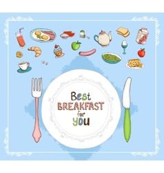Best Breakfast For You vector image