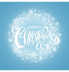 Blue Christmas Snowflake Wreath vector