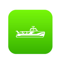 boat icon simple black style vector image