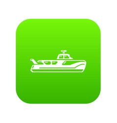 Boat icon simple black style vector