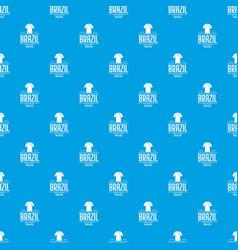 brazil team pattern seamless blue vector image
