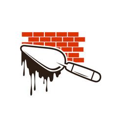 brick construction logo vector image