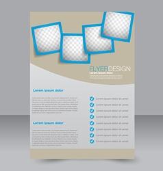 Brochure design Flyer template Editable A4 poster vector