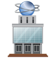 Building with round ball on top vector