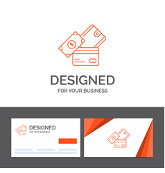 business logo template for credit card money vector image