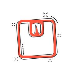 cartoon bathroom scale weigher icon in comic vector image