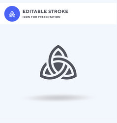 celtic knot icon filled flat sign solid vector image
