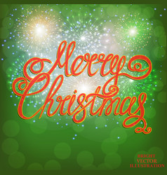 christmas green background bright vector image