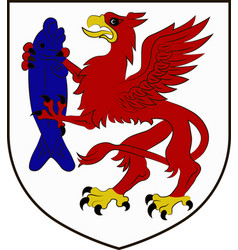 coat of arms of szczecinek in west pomeranian vector image