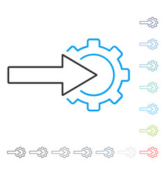Cog integration stroke icon vector