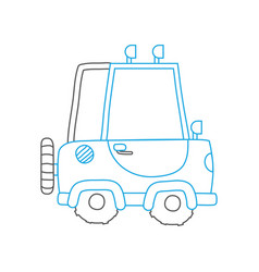 color line tractor farm vehicle plant transport vector image