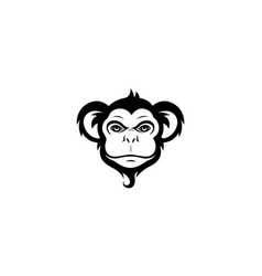 creative monkey face logo vector image