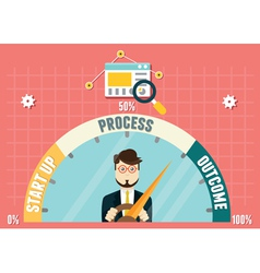 Dashboard of business development vector