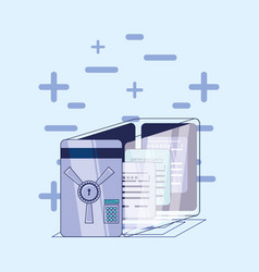 data security files in safe box vector image