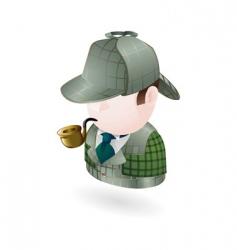 detective illustration vector image