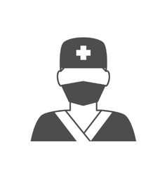 Doctor avatar icon vector