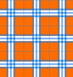 Fabric texture in a square pattern seamless orange vector