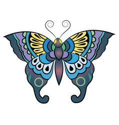 fantasy butterfly vector image