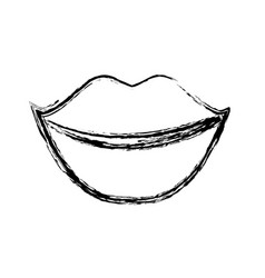 Female lips icon vector